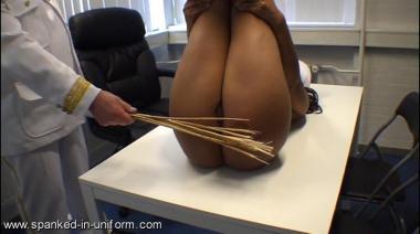 spanked in uniform